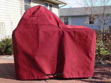 Custom Red BGE Grill Cover