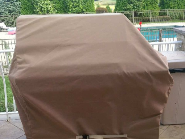 Tan Custom Grill Cover