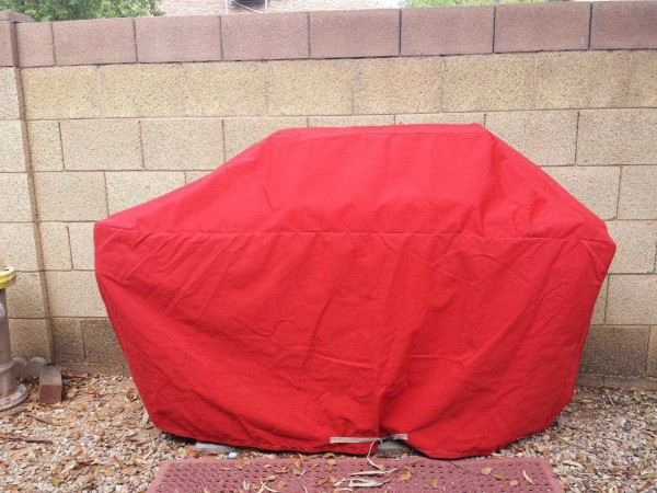 Red Custom Grill Cover