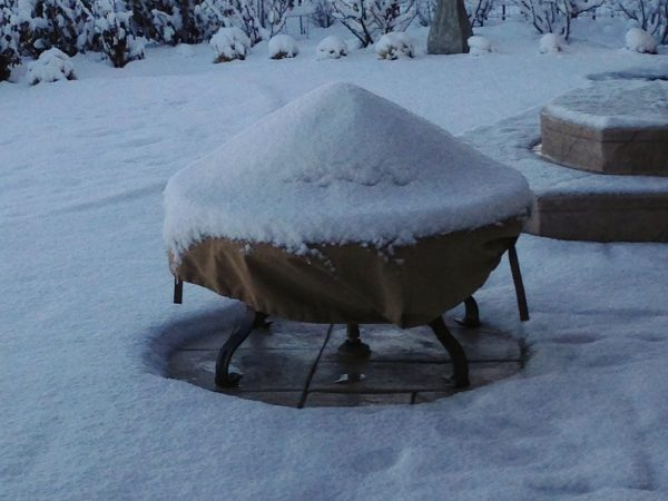 Fire Pit Cover by GrillWraps and Cove Point Covers